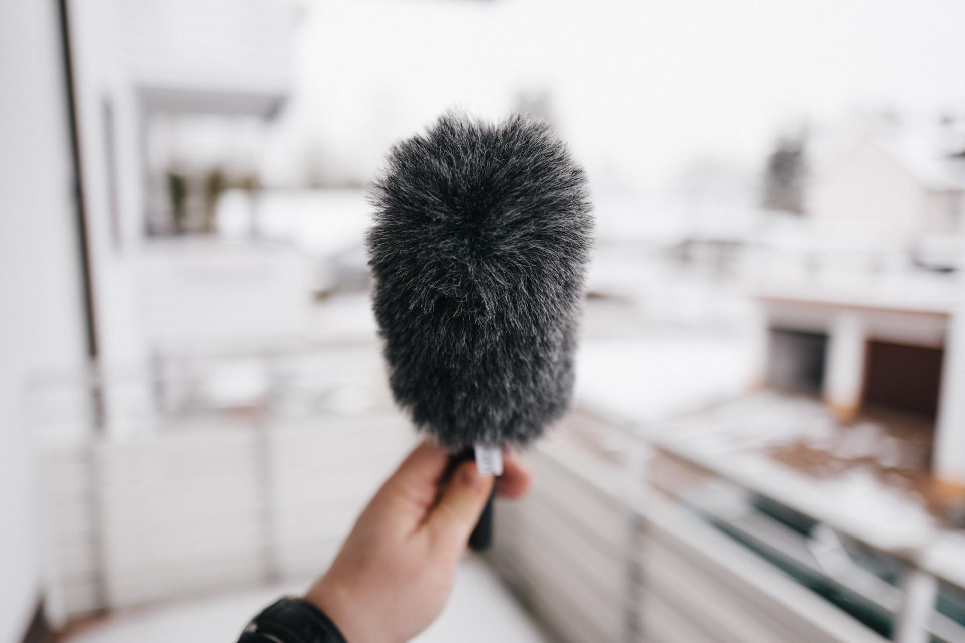 Die Deadcat schützt das Mikrofon vor Wind und Wetter
