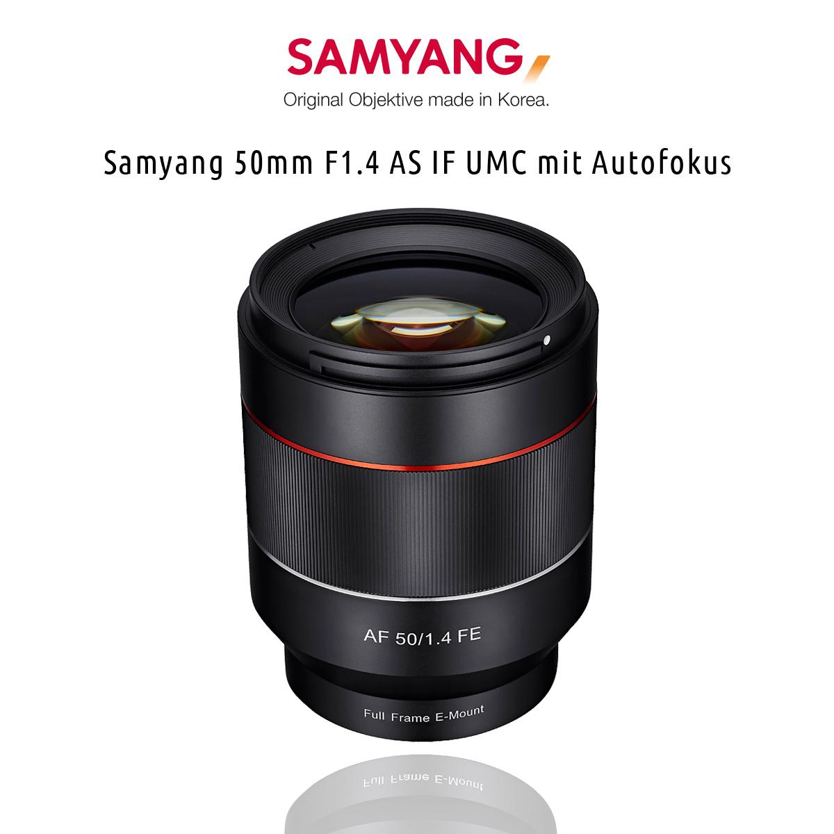 Das neue Samyang 50mm F1.4 AS IF UMC mit Autofokus
