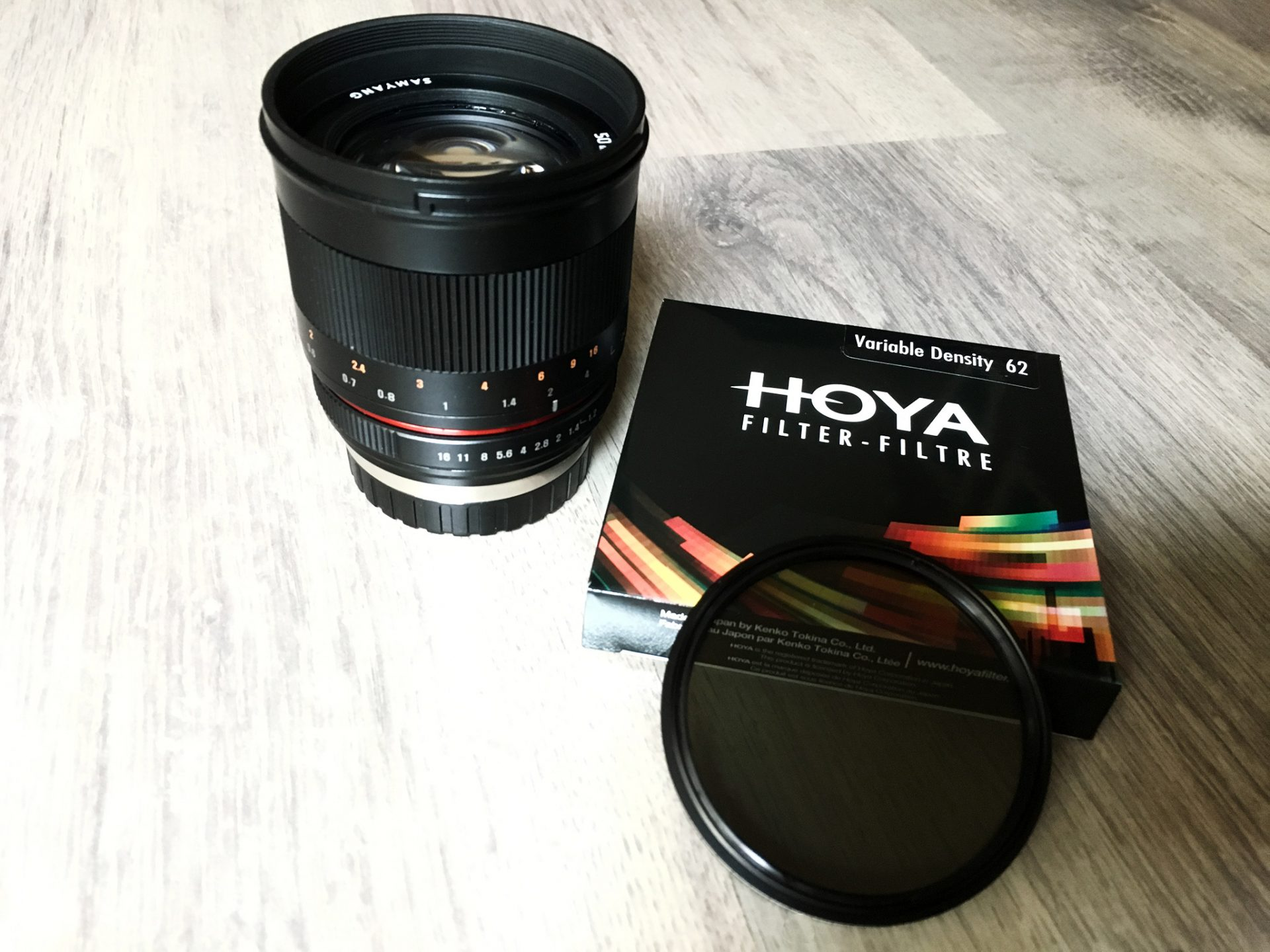 Variable ND Filter von Hoya