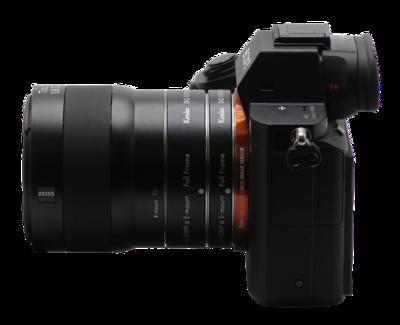 Montage zwischen Kamera und Objektiv