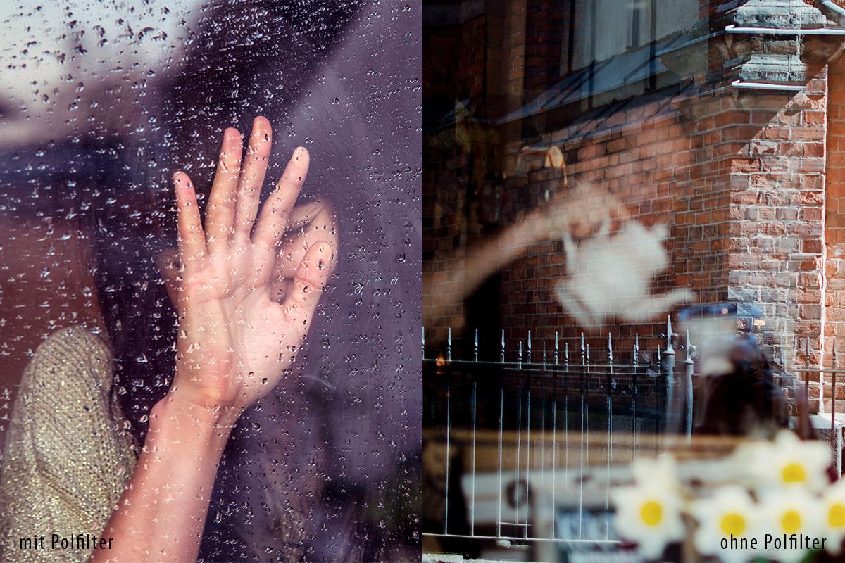 Weniger Reflexionen auf Glasflächen