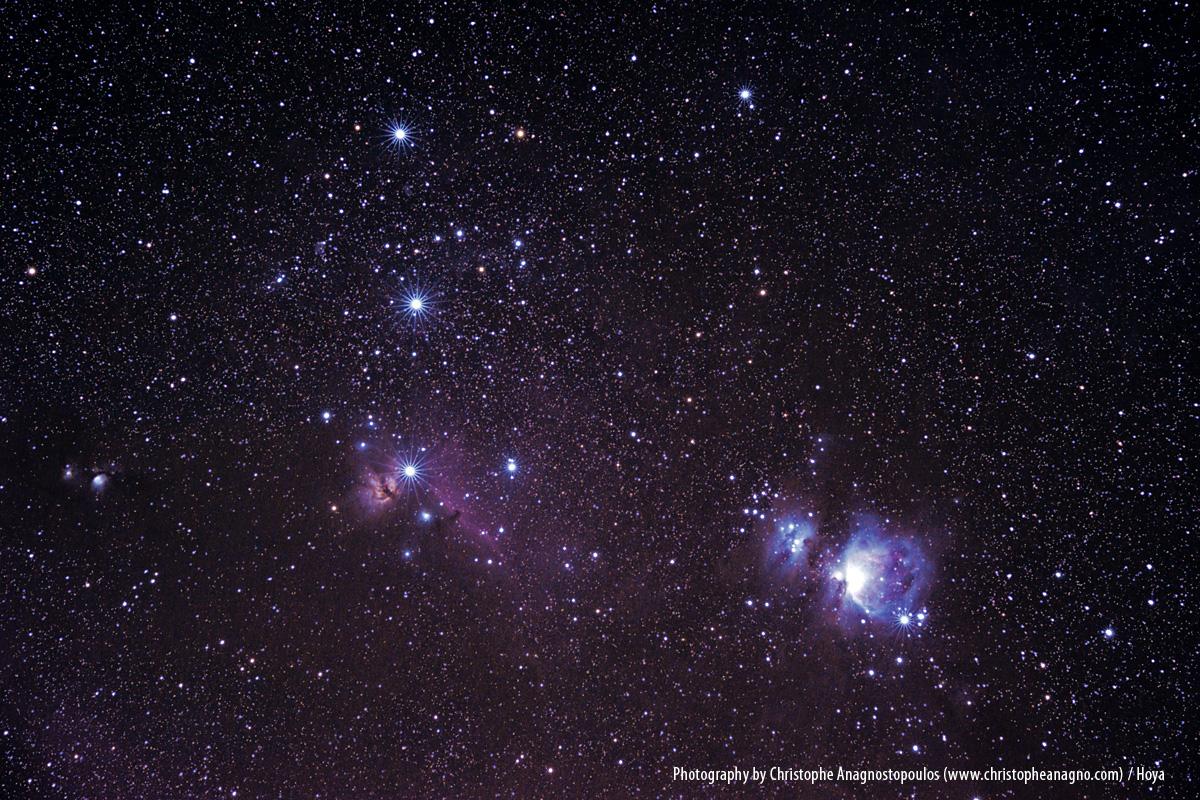 Der Orionnebel, ein Emissionsnebel im Sternbild Orion
