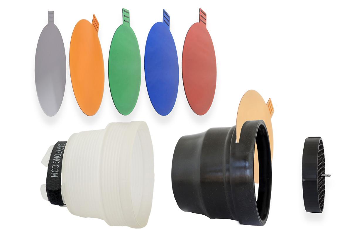 Die Gary Fong SnootSkin™ Tools sind eine Erweiterung für den Lightsphere Collapsible Blitzdiffuser