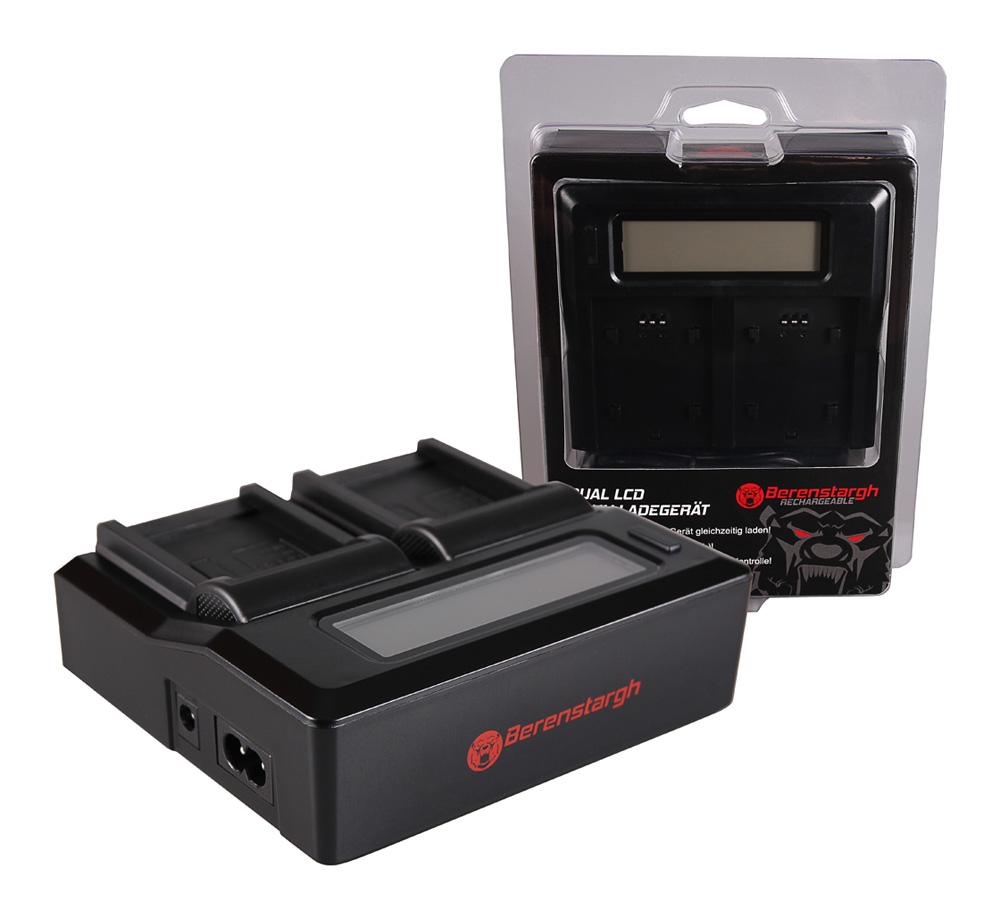 Die Ladegeräte von Berenstargh können bis zu zwei Akkus, auch unterschiedlicher Kapazität, synchron oder einzeln laden