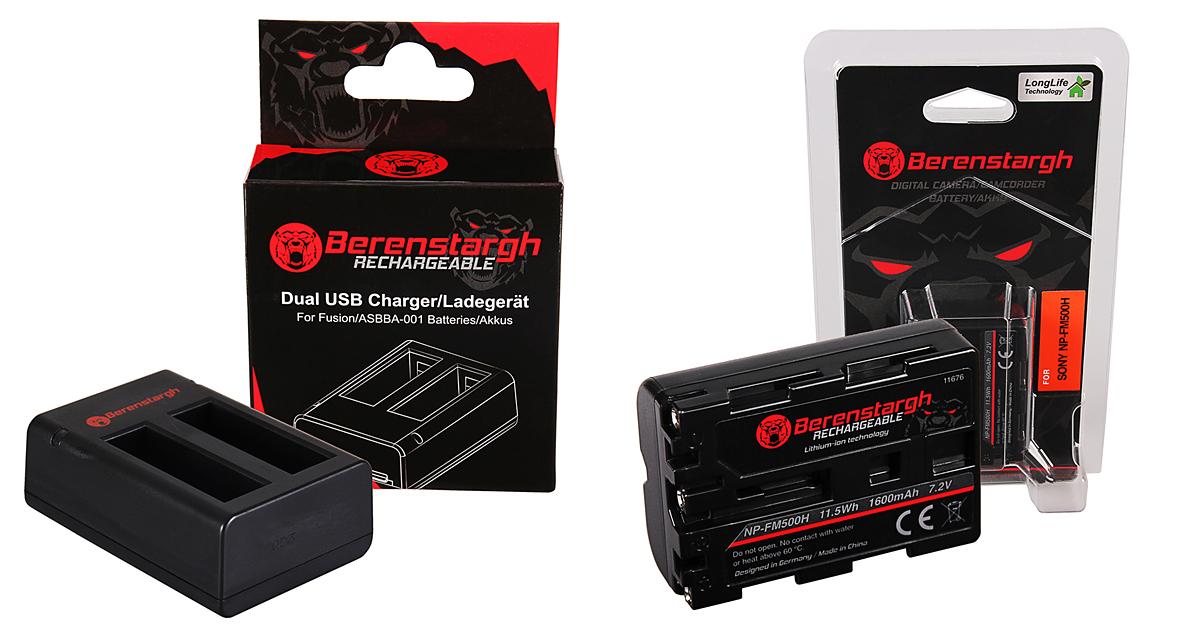 Hochleistungsakkus und Ladegeräte von BERENSTARGH - für über 300 Kameramodelle