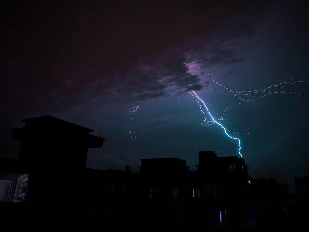 Gewitterfotografie in der Stadt