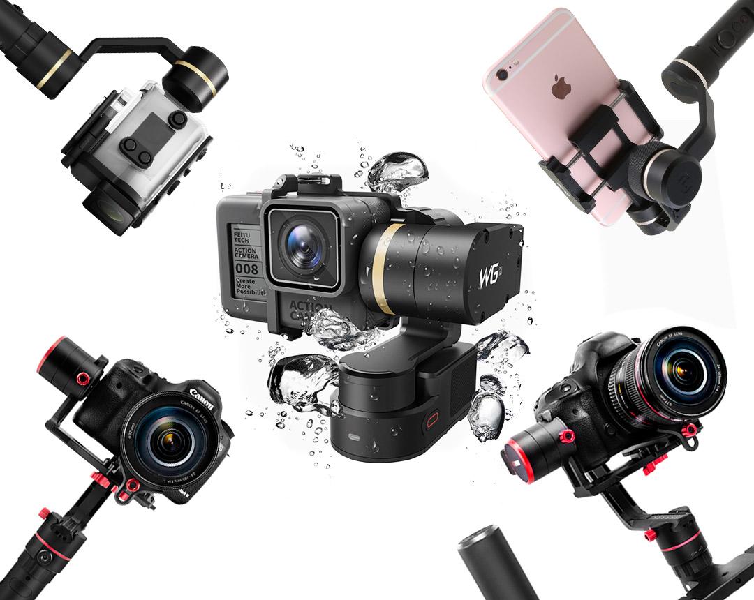 FeiyuTech Gimbals für Kameras, Actioncams, Drohnen & Smartphones