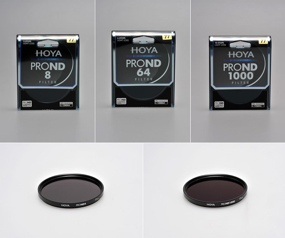 ND-Filter von Hoya. Erhältlich in vielen Stärken und Durchmessern.