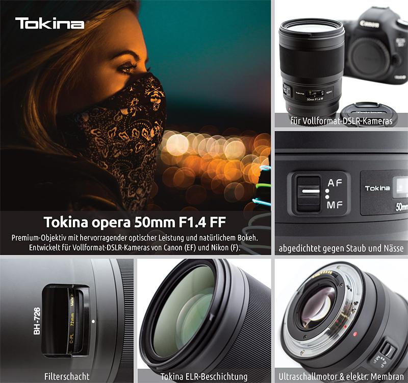 Voller interessanter Details: das neue Tokina opera 50mm F1.4 Objektiv