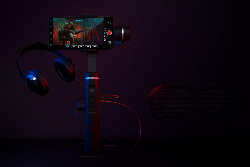 FeiyuTech SPG 2 Smartphone Gimbal mit Mikrofoneingang