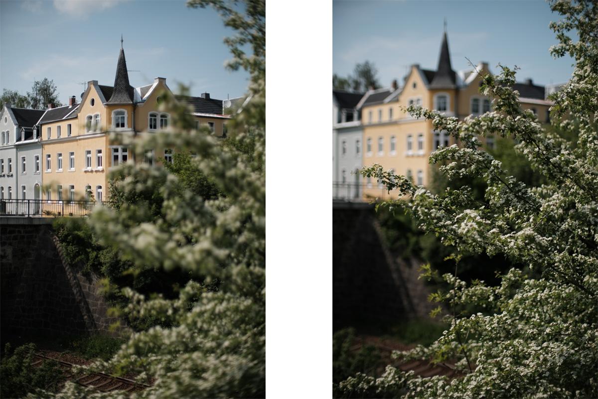 Hintergrundunschärfe vs. Vordergrundunschärfe