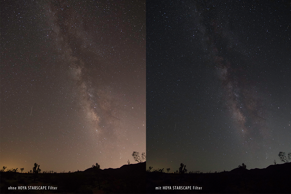 Vergleich HOYA STARSCAPE LIGHT POLLUTION CUT FILTER