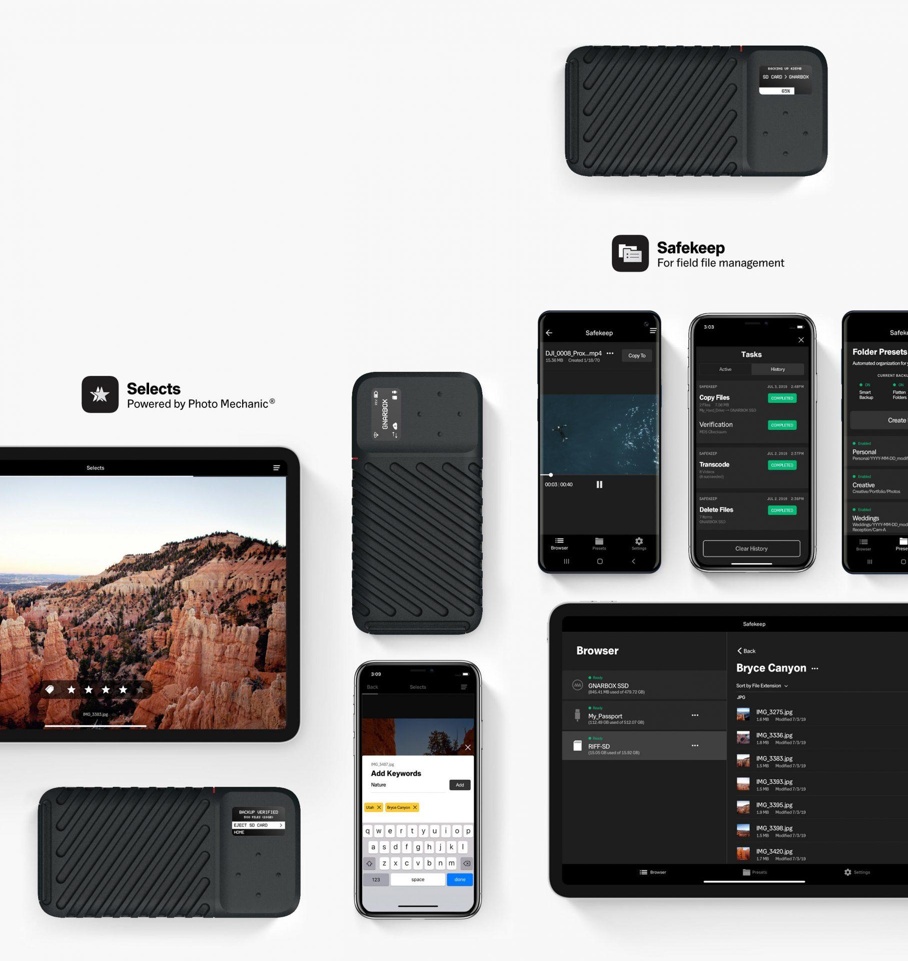 Apps für GNARBOX 2.0 SSD – die robuste, ultraschnelle Backup-Lösung für professionelle Fotografen und Filmer