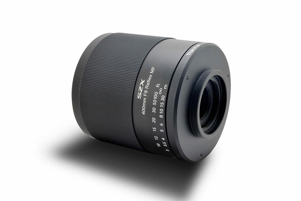 Wechselmount Spiegelobjektiv mit Wechselmountsystem für Nikon, Canon, Fuji, MFT & Sony: Das neue Tokina SZX SUPER TELE 400mm F8 Reflex MF