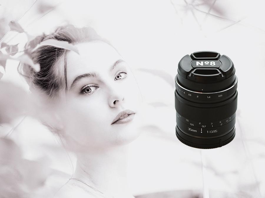 Das No8 35mm f095 Objektiv - extrem lichtstark, tolles Bokeh für Porträts, Street-, Foodfotografie u.v.m