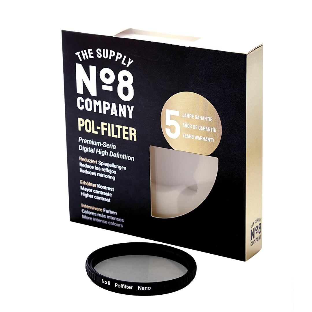 No8 Nano Multicoated POL SLIM Filter - für optimale Farbwiedergabe und zur Unterdrückung von Spiegellungen